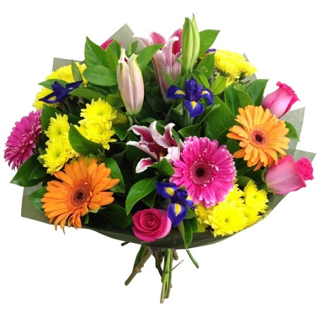 Large bright bouquet