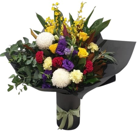 Glitzy bright bouquet