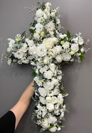 Funeral White  Cross