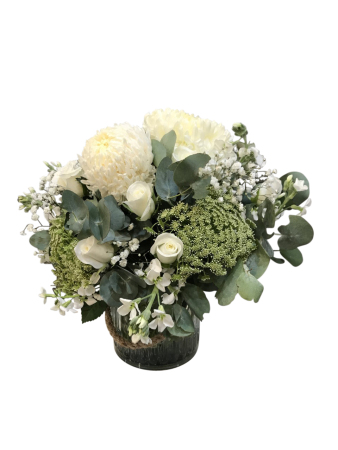 White Posy vase Arrangement