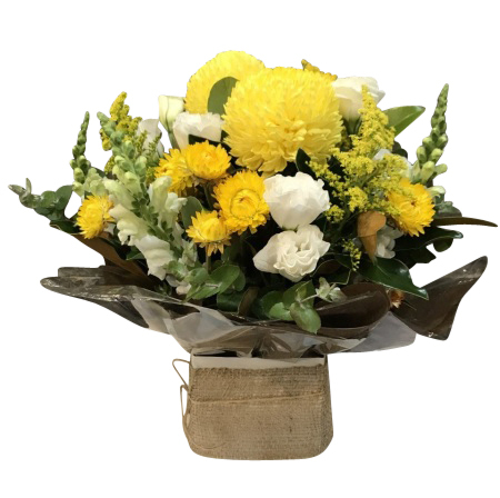 Yellow & white box arrangement