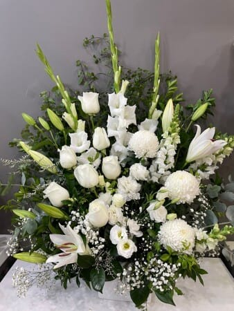 White Tall flower Arrangement