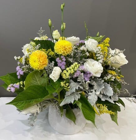 Yellow & White Arrangement