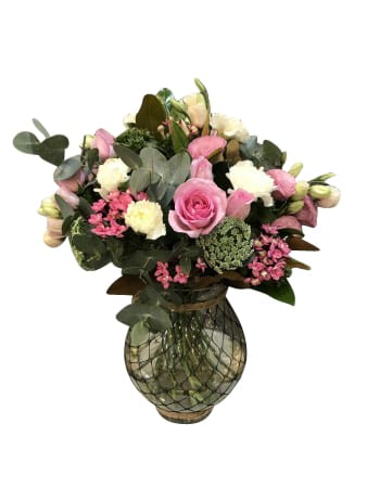 Simply pink vase arrangement