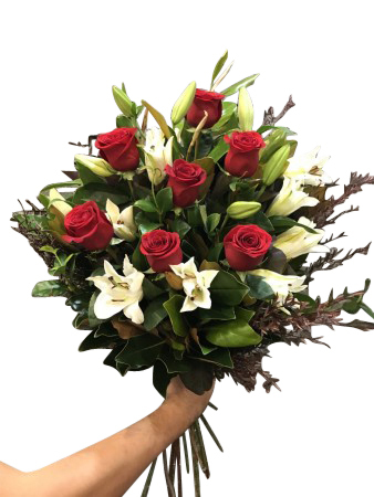 Roses & lily bouquet - Top 10 seller