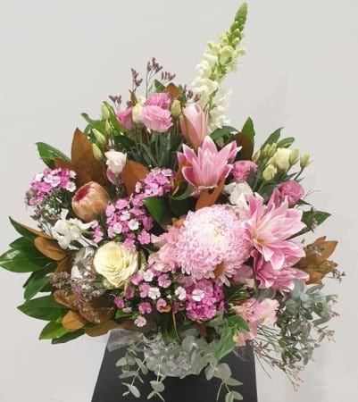charismatic pink arrangement