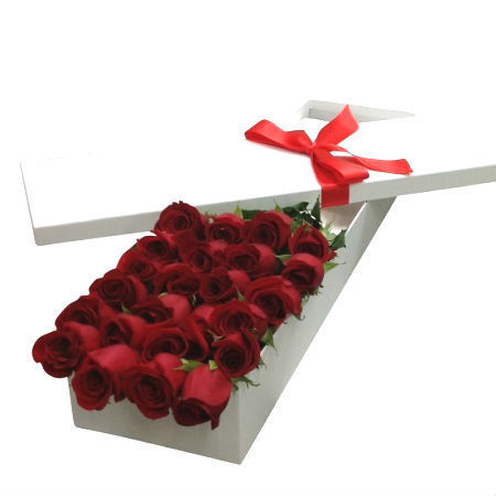 24 Red Roses for Valentine`s Day
