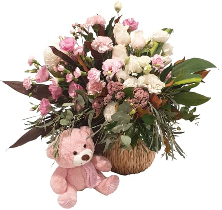 it`s a girls basket Arrangement