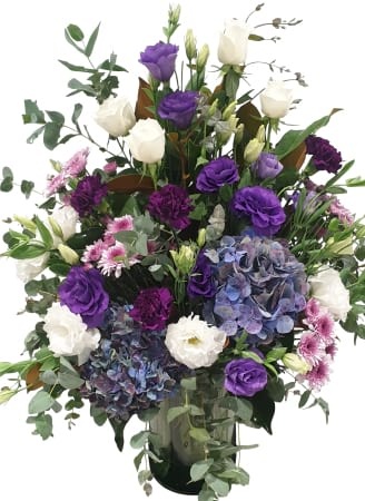 Tall Purple Vase arrangement