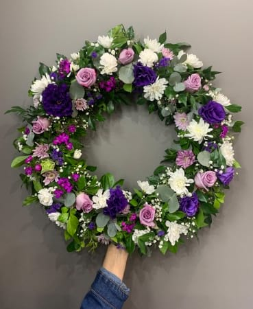 White and Purple Wreath
