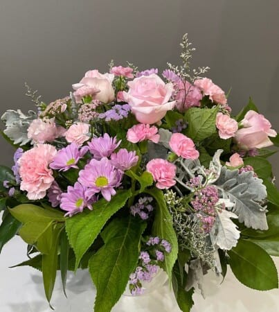 Dusty pink arrangement